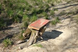 Banc tronc d'arbre