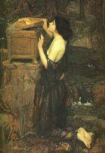 La boîte de Pandore (peinture de J.W. Waterhouse - 1896)